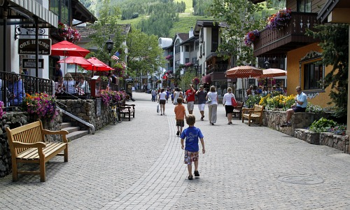 Vail town in the summer