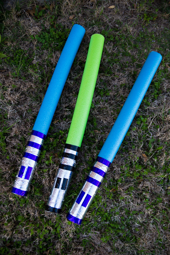 Play Ideas with Pool Noodles: Light Sabers