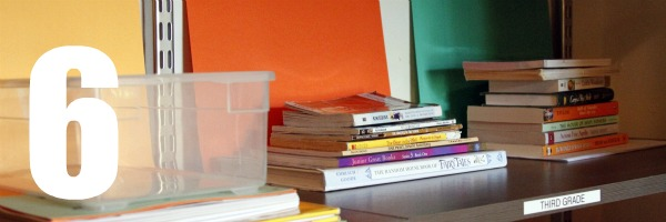 homeschool room books for each grade 6