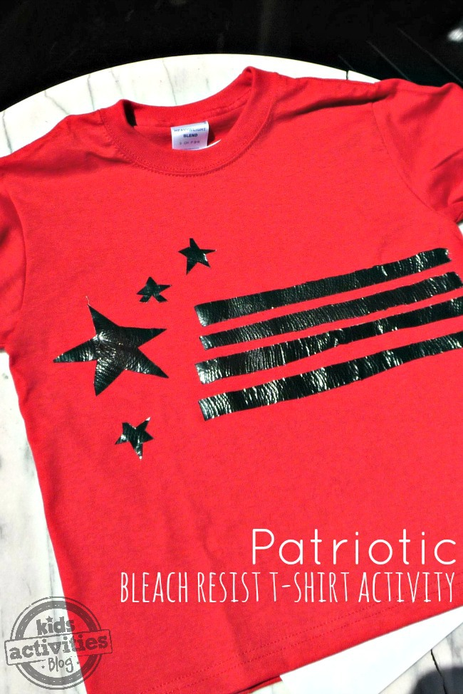 patriotic bleach resist shirt