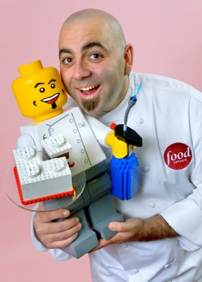 Lego man with chef