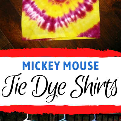 diy tie dye shirts with mickey mouse head