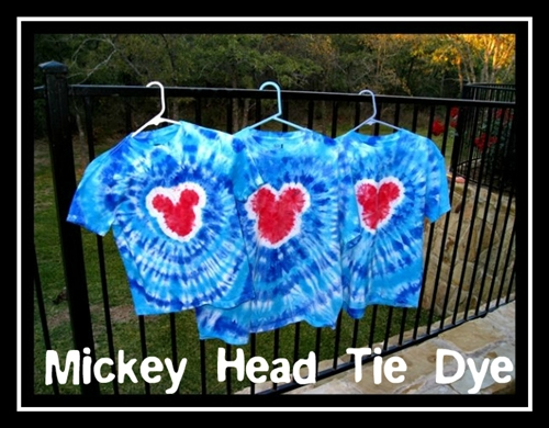 How To Make Mickey Mouse Tie Dye Shirts