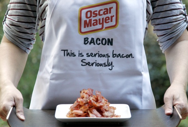 bacon on a tray - Oscar Mayer This is seriously bacon.