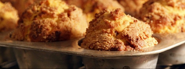 pumpkin muffins in the oven