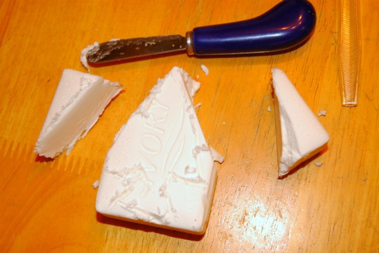 soap carving with knife