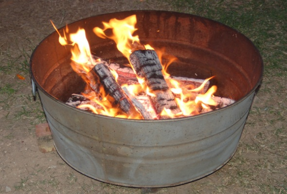 Metal Tub Firepit