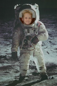 boy in astronaut suit