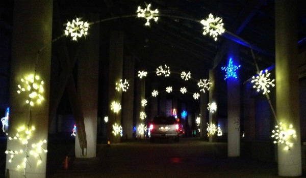 gift of lights texas motor speedway under the bleachers