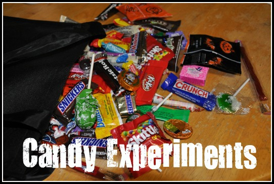 halloween candy experiments