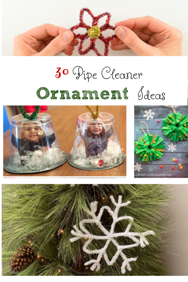 pipe cleaner ornaments for kids to make