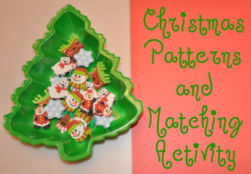 Christmas Themed Patterns and Matching Activity