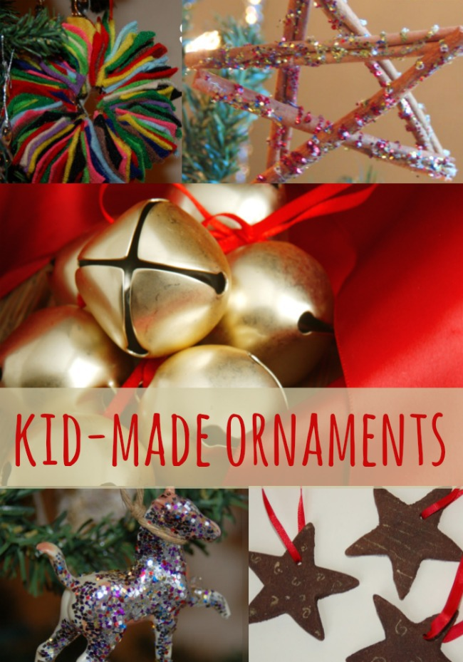Homemade Ornaments Kids Can Make - Kids Activities Blog - pom pom, star, bell, toy and cookies