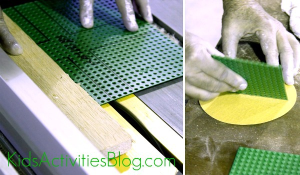 Lego table cutting baseplates