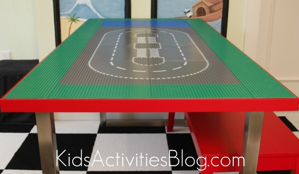 How to Make a LEGO Table out of IKEA Table for Older Kids to Build LEGOS