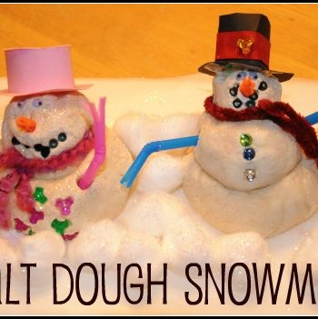 salt dough snowman craft