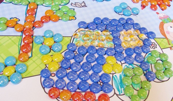 marble coloring activity