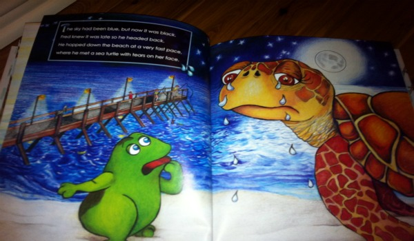 fred saves the sea turtle