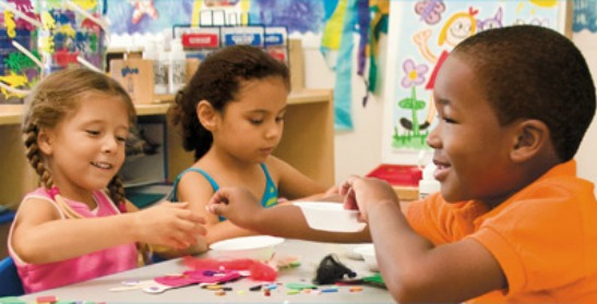 kids doing craft projects
