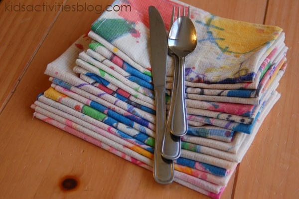 Make Napkins – with and for the kids
