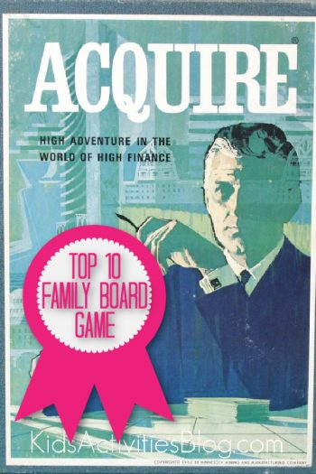 Acquire Game is a top 10 family board game named by Kids Activities Blog