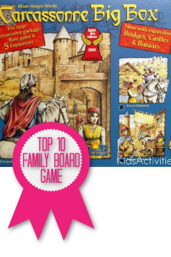 Carcassonne is a top 10 family board game named by Kids Activities Blog