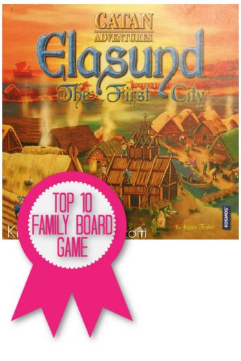 Elasund Game is a top 10 family board game named by Kids Activities Blog