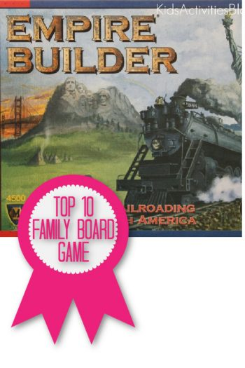 Empire Builder is a top 10 family board game named by Kids Activities Blog
