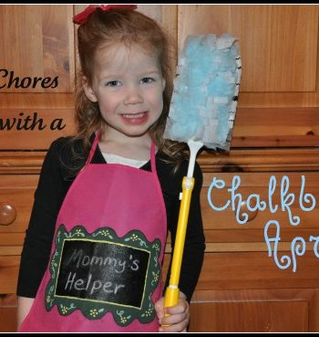 Make chores fun with chalkboard apron