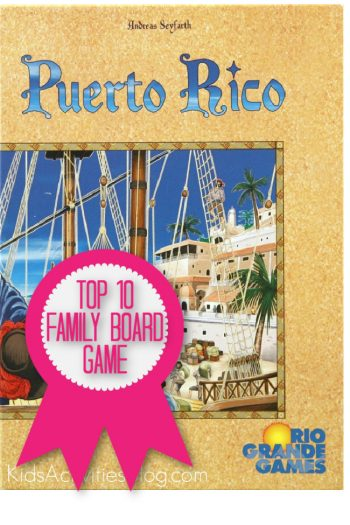 Puerto Rico is a top 10 family board game named by Kids Activities Blog