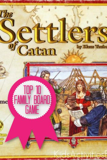 Settlers of Catan Game is a top 10 family board game named by Kids Activities Blog