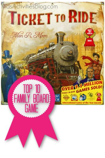 Ticket to Ride Game is a top 10 family board game named by Kids Activities Blog