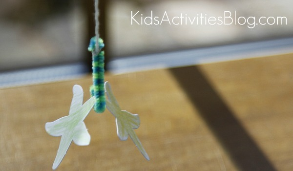 fishing game with string and pipe cleaners