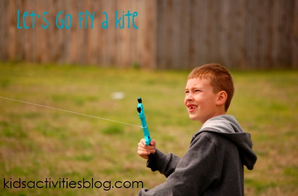 staycation idea fly a kite