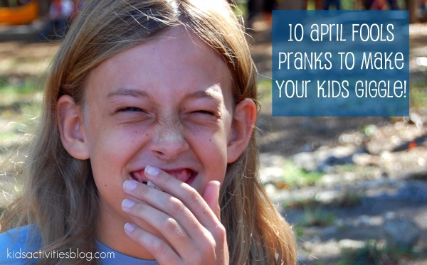 10 April Fools Pranks for Parents to Make Kids giggle - giggling girl