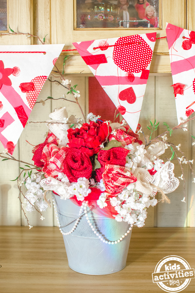 Create a Valentine's Day Banner With Leftover Red Christmas Supplies