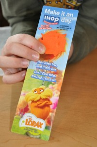 lorax bookmark