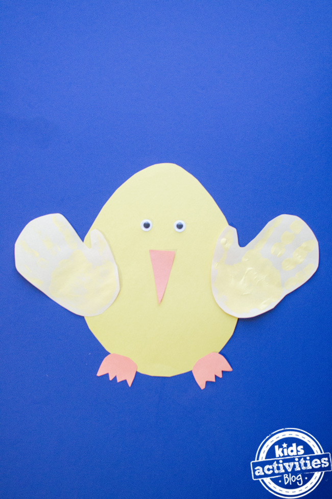 preschool easter chick craft