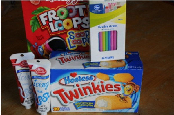 twinkies and fruit loops