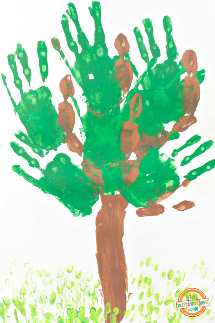 Tree Handprint Earth Day Craft for Kids