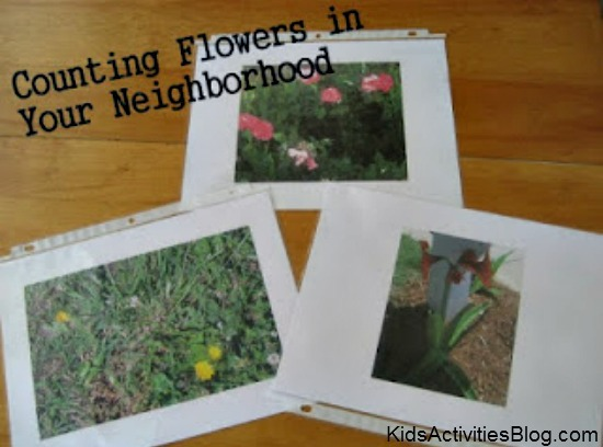 preschool activities: Counting Flowers