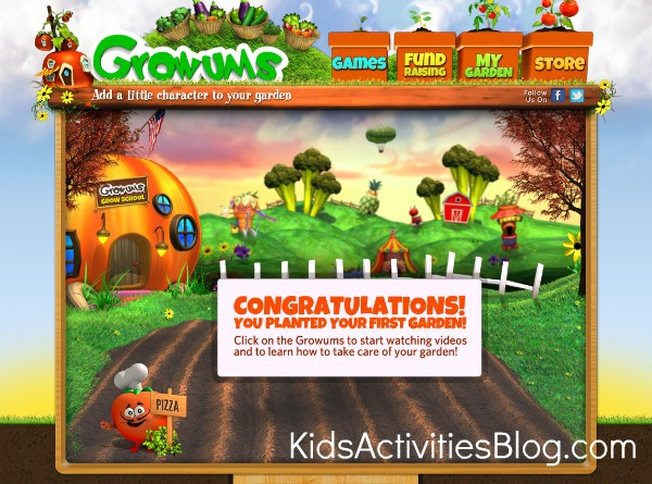 Growums screen shot of growing school