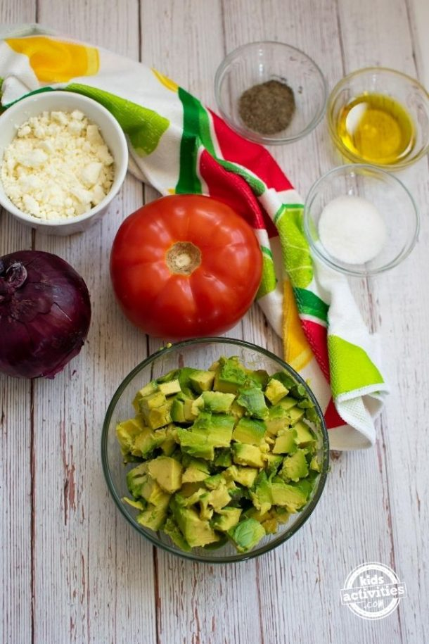 Ingredients for Summer Avacado Salad Recipe
