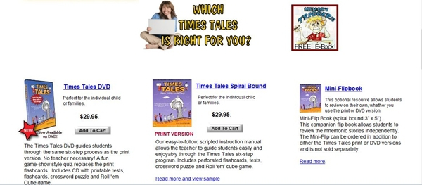 Times Tales DVD: Learn multiplication tables quickly & easily!