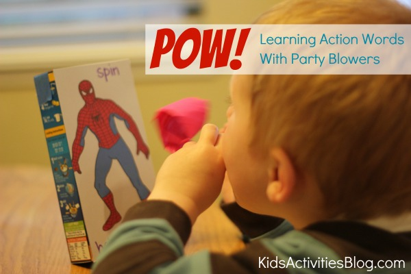 Games for Kids: Learning Action Words with Party Blowers