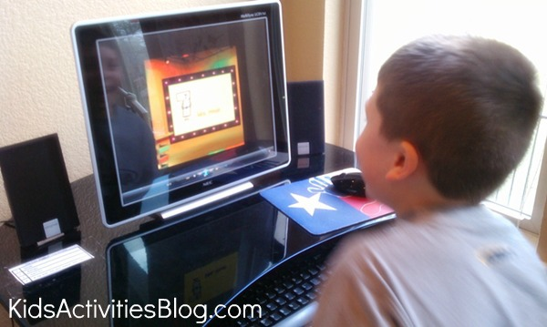 boy watching computer screen