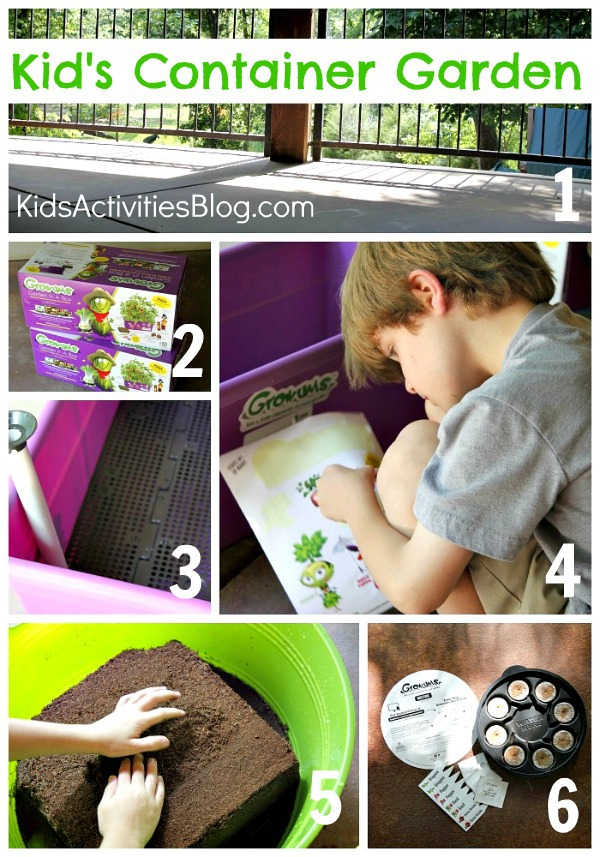 container garden for kids collage