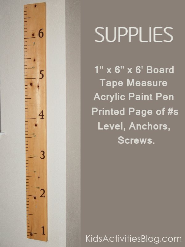 measuring with a wall ruler