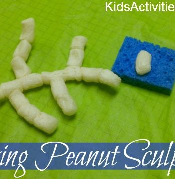 packing peanut sculptures