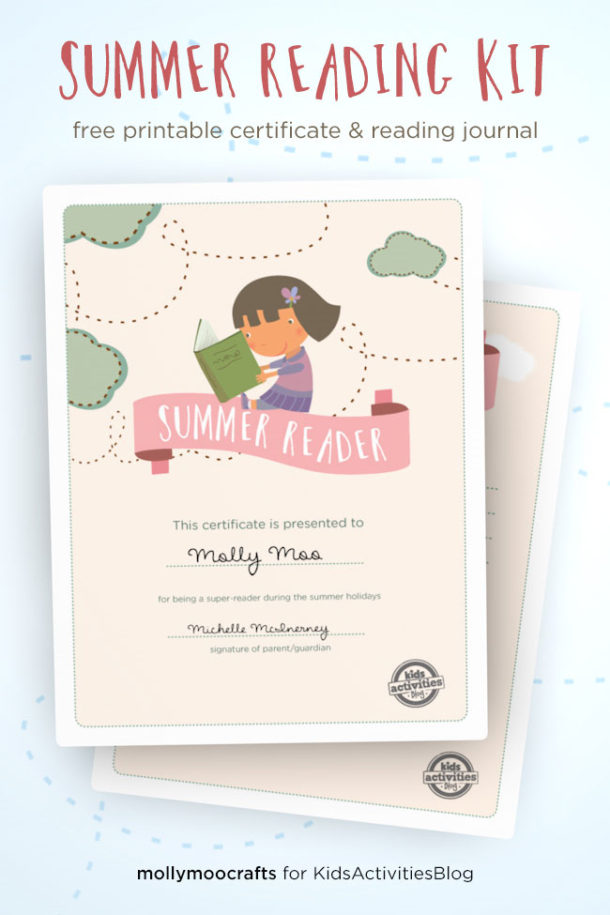 Printable Free Summer Reading Kit - Kids Activities Blog